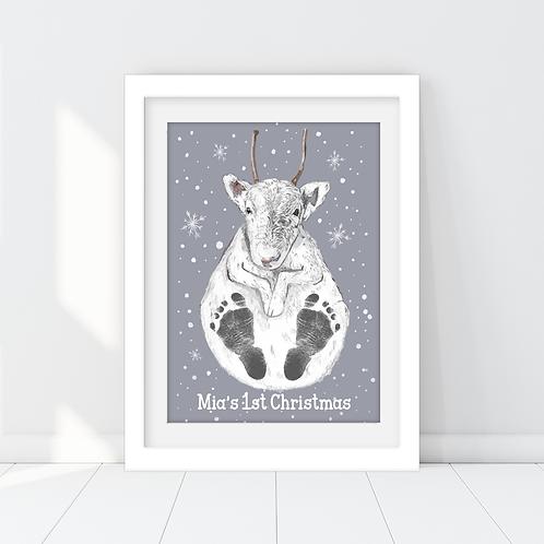 Personalised Reindeer Footprint Print