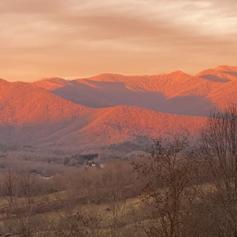 Sunset on the mountains