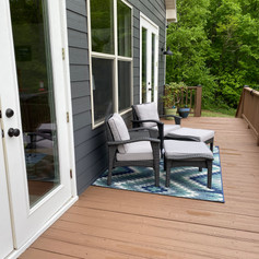 New deck seating