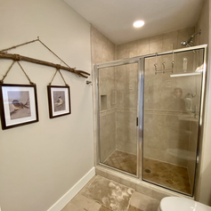 Downstairs bath with walk in shower