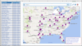 Excel maps, place maps, plot excel data, maps in excel