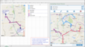 driving maps, transit maps, route planning, excel route maps