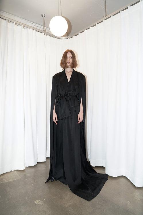 Long Sleeve Asymmetric Coat Dress