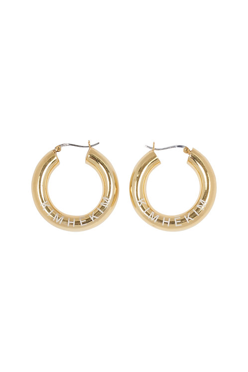 KIMHEKIM LOGO  HOOP EARRINGS