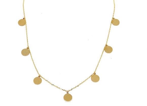 Collar medallitas Oro de Ley