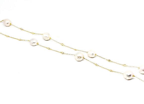 Collar Perla Cultivada Dorado