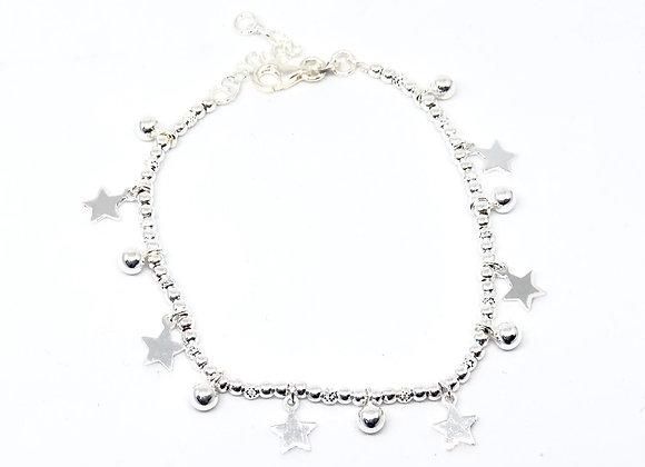 Pulseras Estrellas Plata