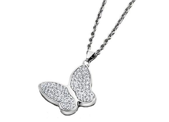 Collar Mariposa  Acero