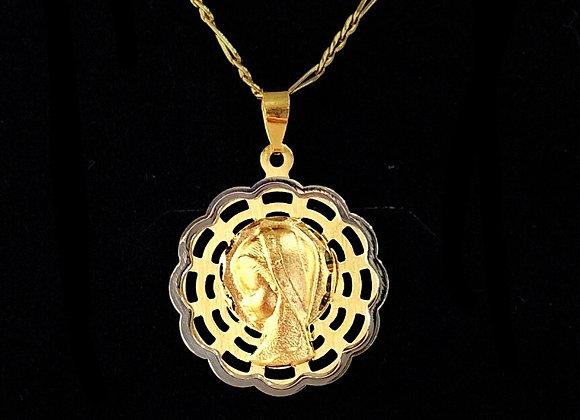 Medalla Virgen Niña Ondas.
