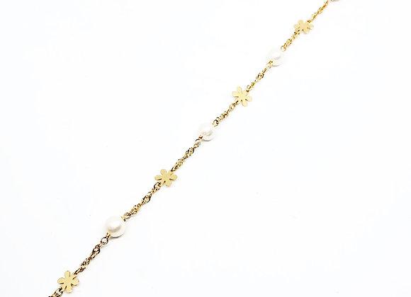 Pulsera Perlas Oro