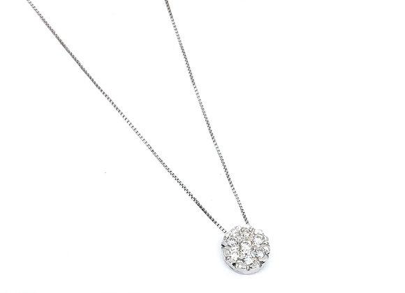 Colgante Flor en Diamantes