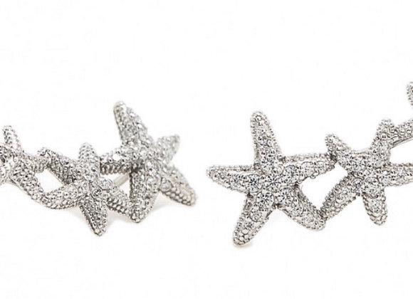 Pendientes Estrellas Earcuff