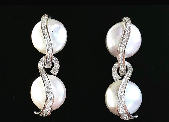 Pendientes Perla Y Oro Blanco
