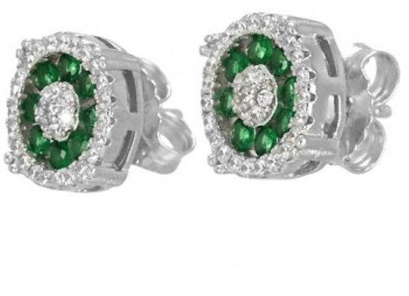 Pendientes Plata Verdes