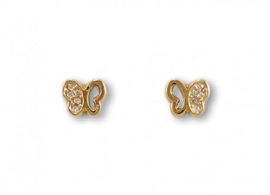 Pendiente Mariposa Oro