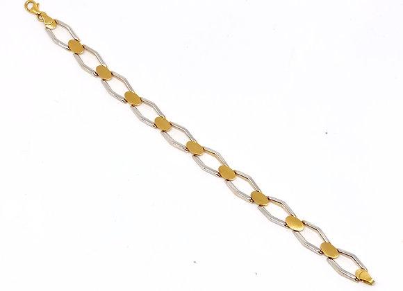 Pulsera Bicolor Oro