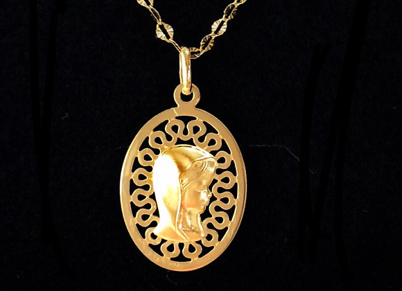Medalla Virgen Niña Oro.