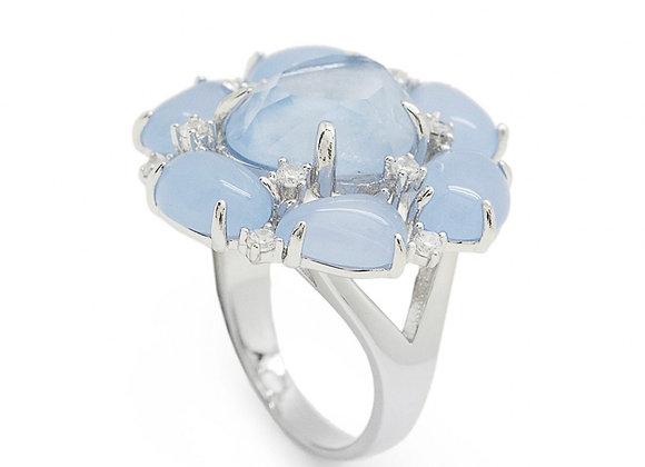 Anillo Flor Azul