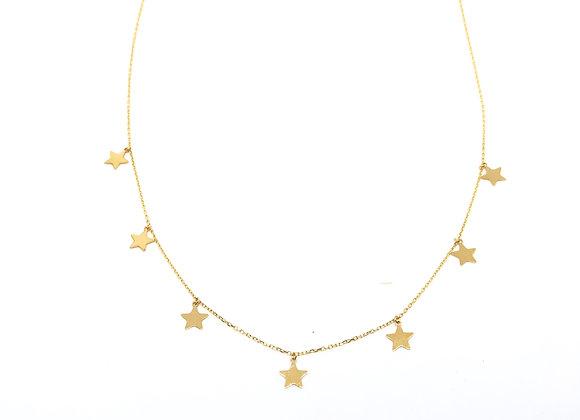 Collar Estrellas Oro de Ley