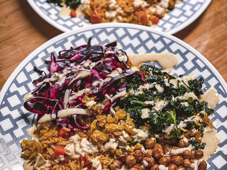Rockin' The Kitchen | Crispy Curried Chickpea Bowls
