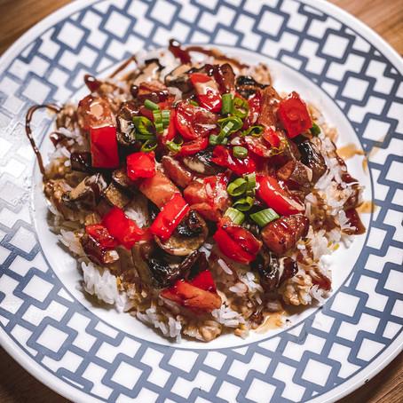 Rockin' The Kitchen   Hoisin Roasted Vegetable Bowls