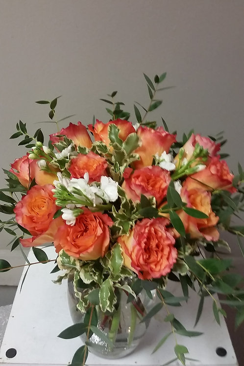 Ginger Roses and Greenery