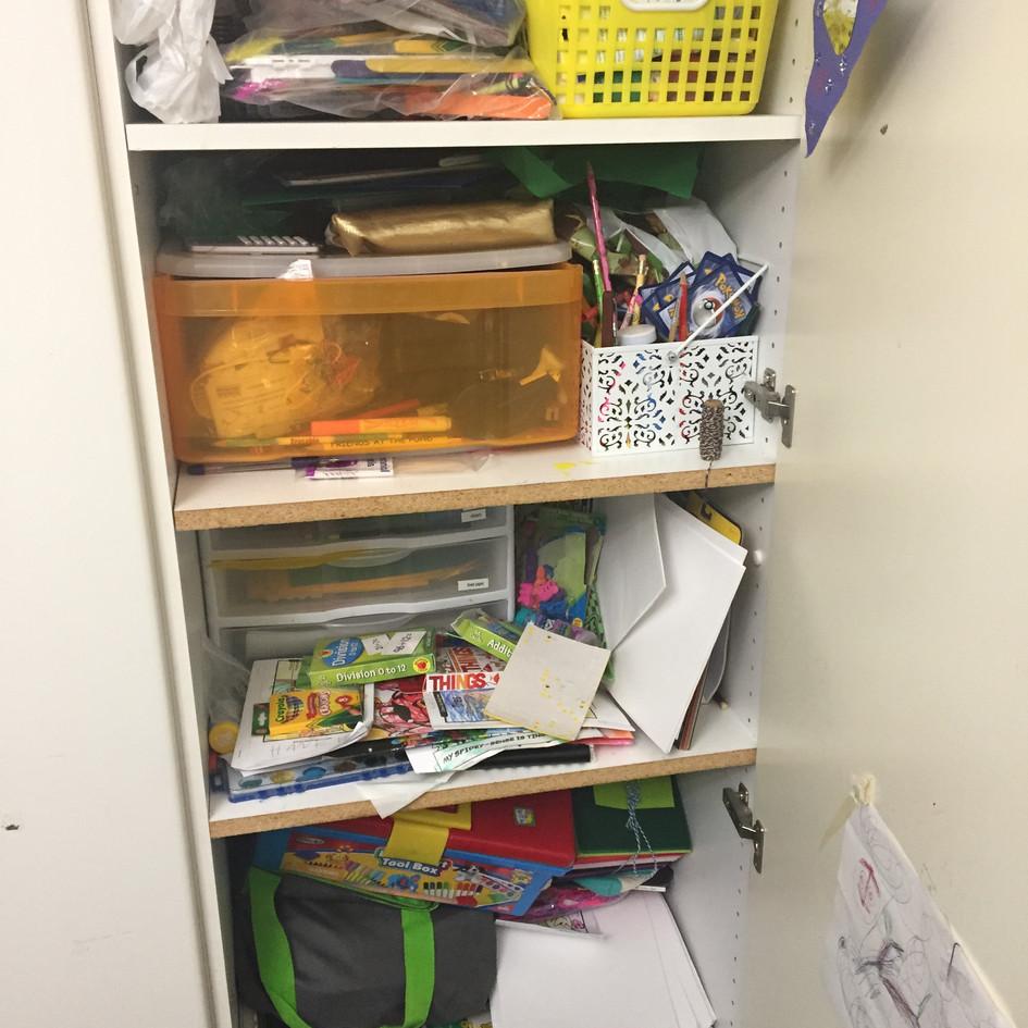 Crammed Art Cabinet Before Lauren...
