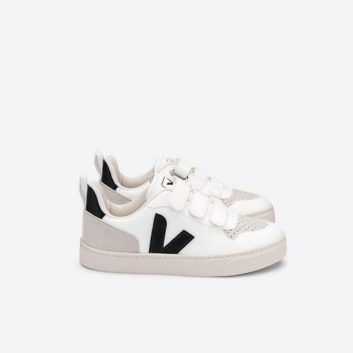V10 Velcro CWL White Black | Veja Kids