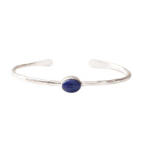 Moonlight Lapis Lazuli Silver Bracelet | A Beautiful Story