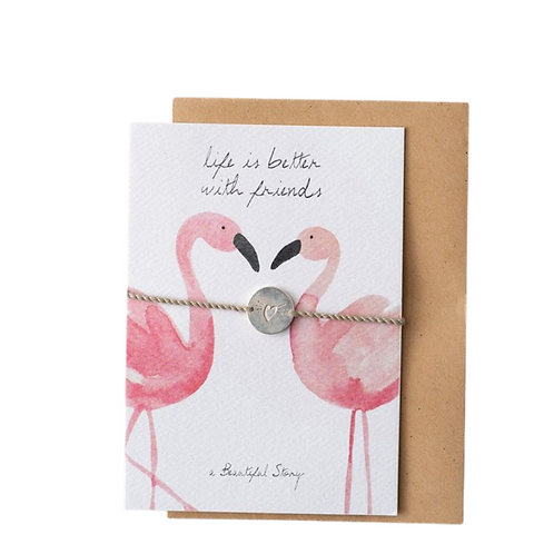 Jewelry Postcard Flamingos | A Beautiful Story