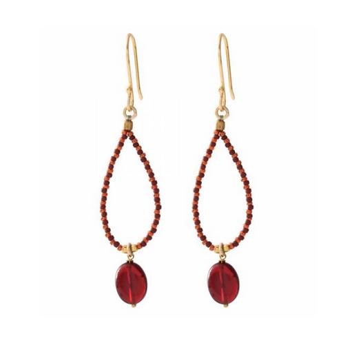 Magical Garnet Gold Earrings   A Beautiful Story