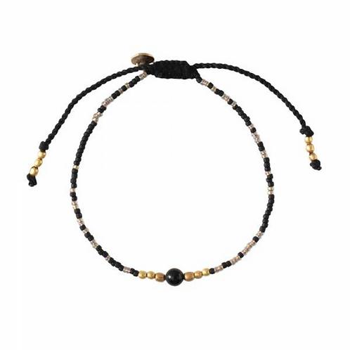 Iris Black Onyx Gold Bracelet | A Beautiful Story