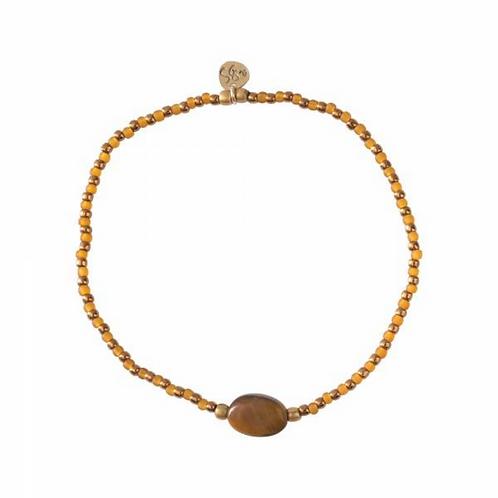 Winter Tiger Eye Gold Bracelet | A Beautiful Story