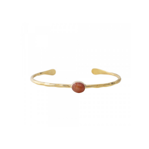Moonlight Carnelian Gold Bracelet | A Beautiful Story