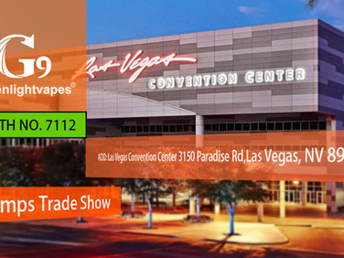 G9 / Greenlightvapes (Booth:NV89109) CHAMPS TRADE SHOWS (July, 2019)
