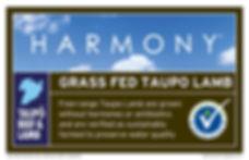 Taupo Lamb Harmony label