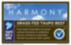 Taupo Beef Harmony label