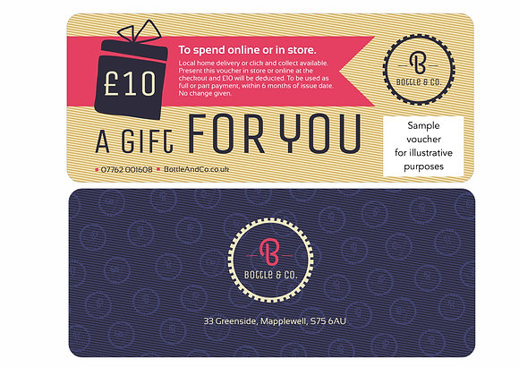 £10 Gift Voucher for Bottle & Co