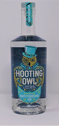 Hooting Owl - South Yorkshire Gin: 50cl, 20cl and 5cl bottles.