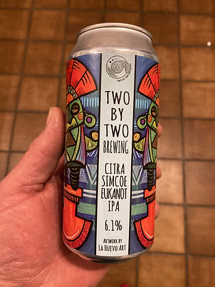 Two by Two Brewing - Citra, Simcoe, Ekuanot. 6.1%