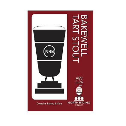North Riding Brewery - Bakewell Tart Stout. 5.5%