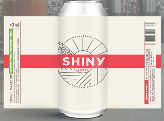 Shiny Brewery - Lager. 4.5%