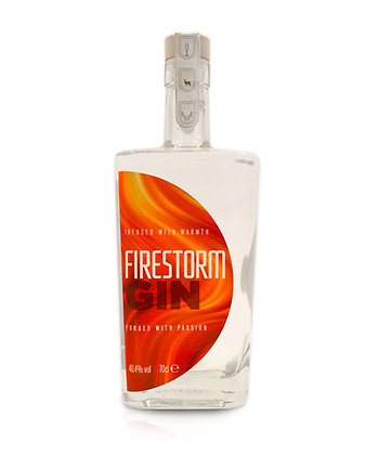 Firestorm Gin: 70cl and 5cl bottles.