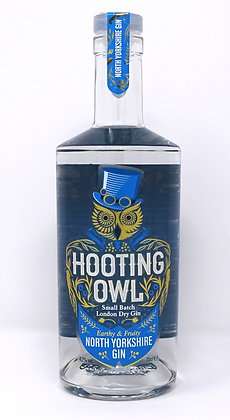 Hooting Owl - North Yorkshire Gin: 70cl, 50cl, 20cl and 5cl bottles.