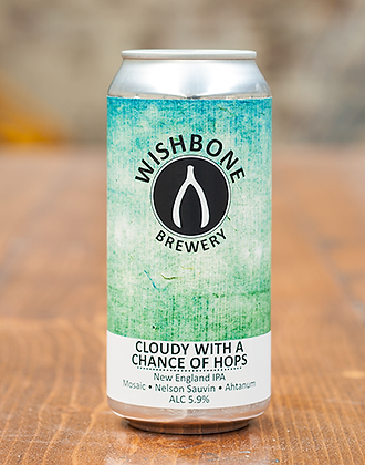 Wishbone Brewery - Cloudy with a chance of hops 5.9%