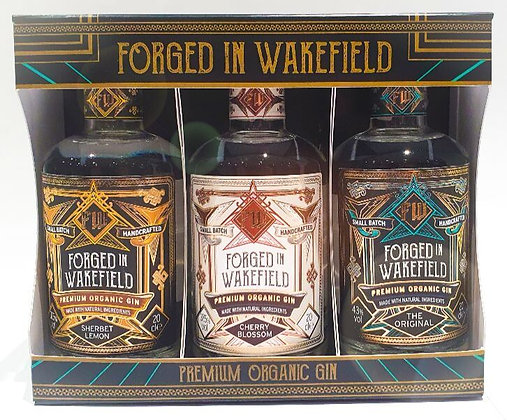 Forged in Wakefield 3 x 20cl bottles in a presentation box.