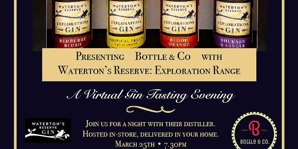 Waterton's Reserve Explorations Gin Tasting Evening