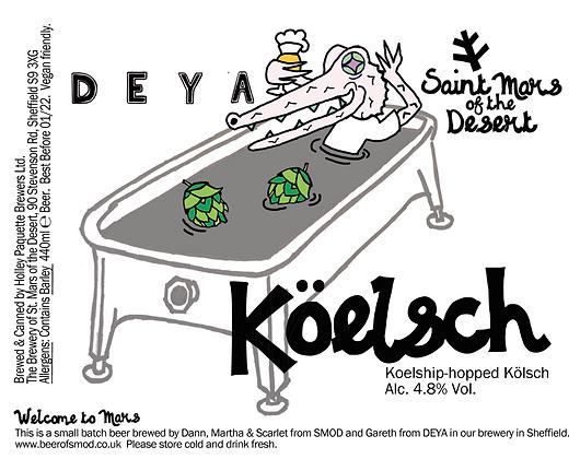 Saint Mars of the Desert x Deya - Koelsch. 4.8%