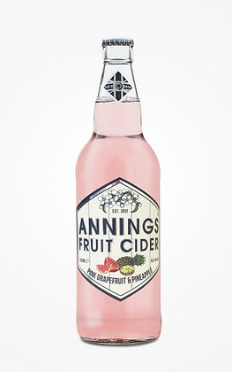 Annings - Pink Grapefruit and Pineapple. 4%