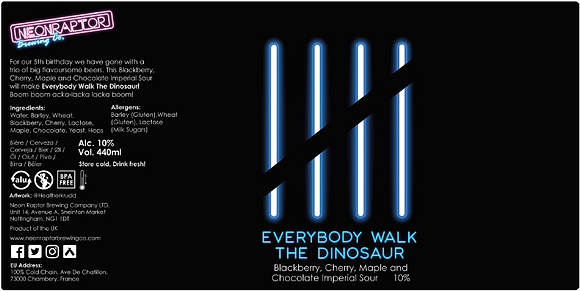 Neon Raptor - Everybody Walk The Dinosaur. 10%